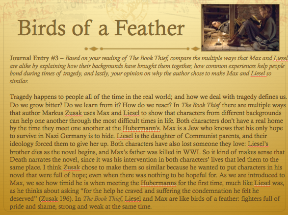 the book thief essay on death